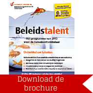 Download brochure Beleidstalent